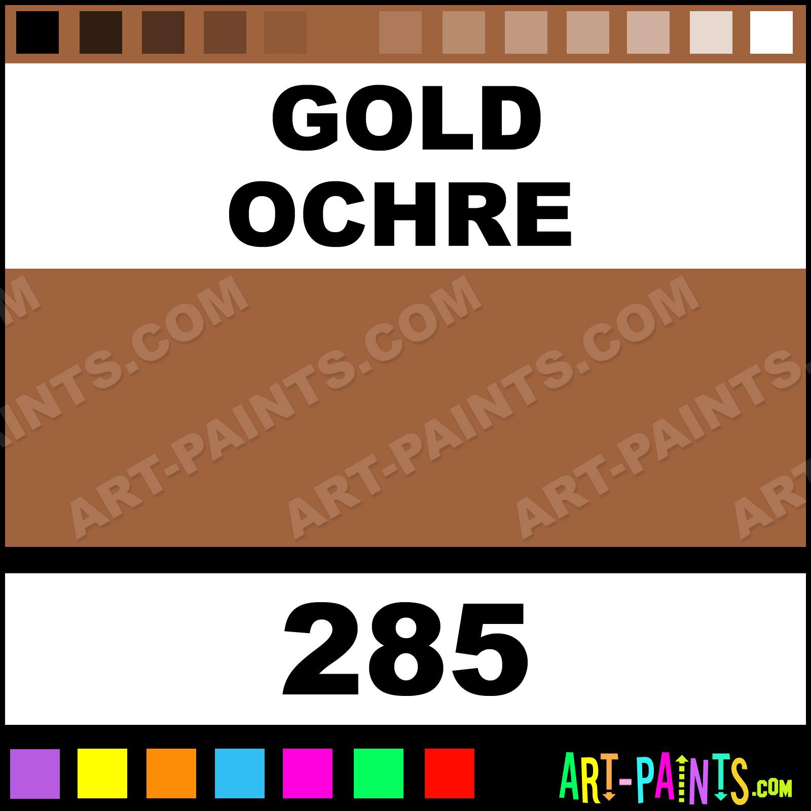 Gold Ochre Designers Gouache Calligraphy Inks Pigments