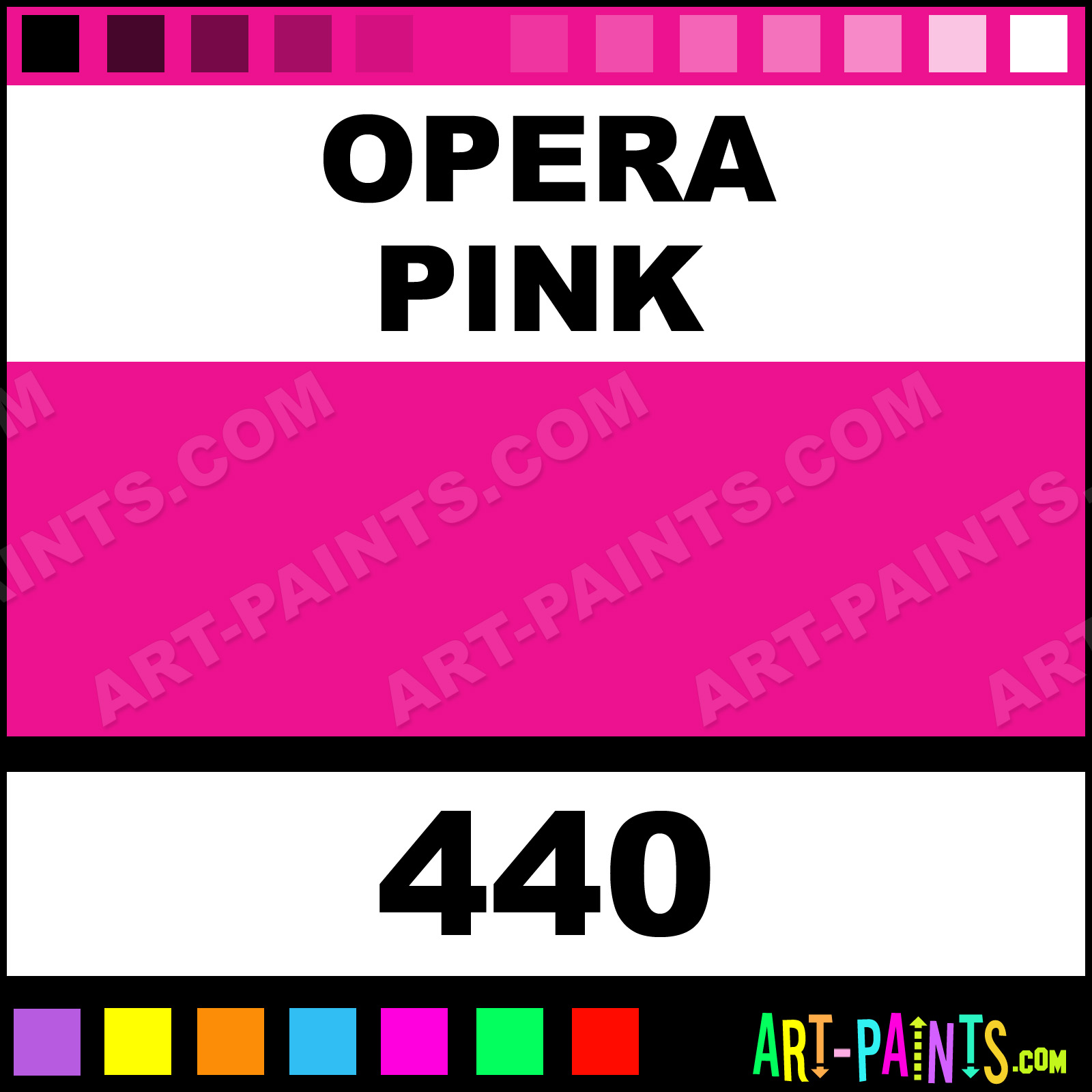 Opera Pink Designers Gouache Calligraphy Inks Pigments