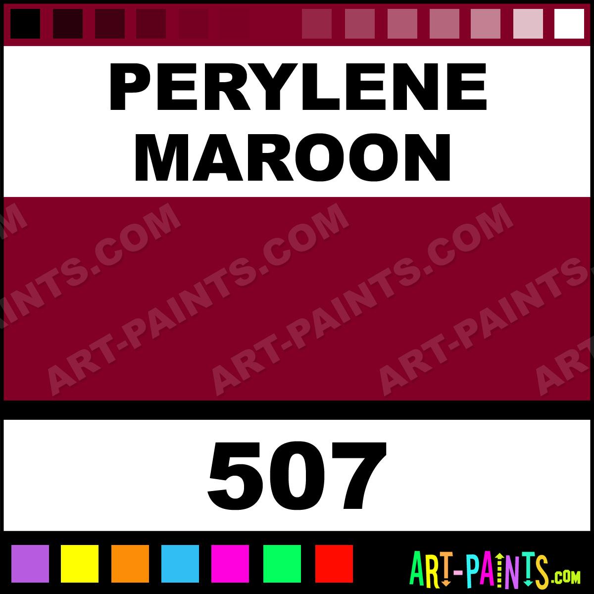 Perylene Maroon Designers Gouache Calligraphy Inks