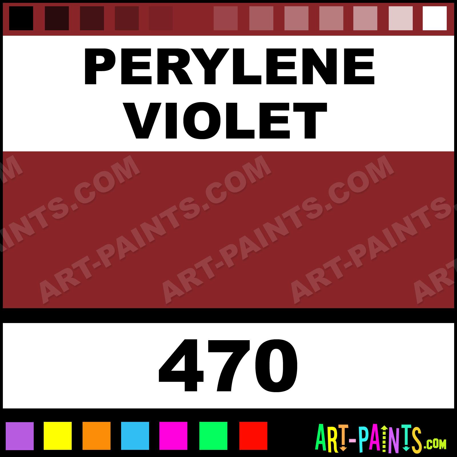 Perylene Violet Designers Gouache Calligraphy Inks