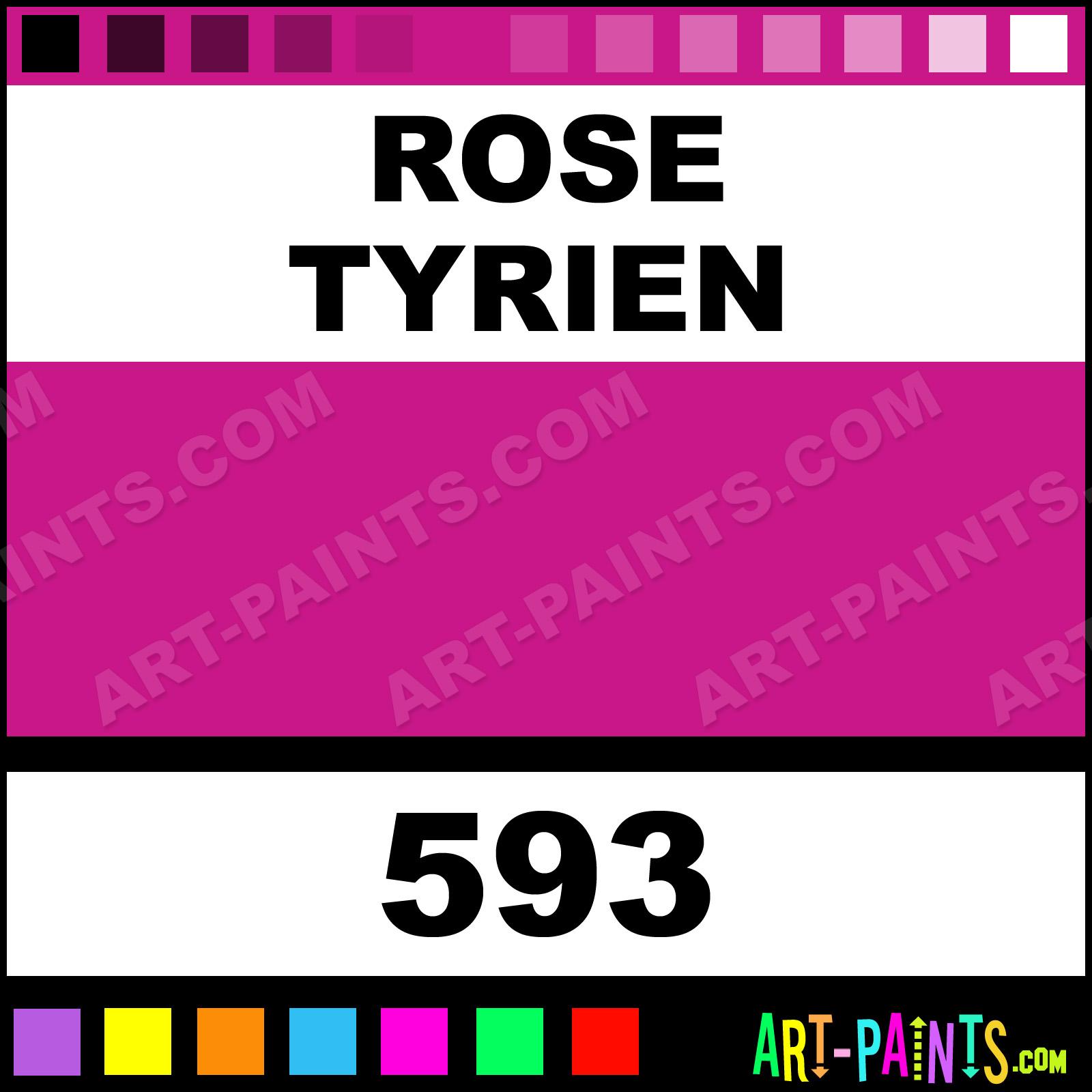 Rose Tyrien Designers Gouache Calligraphy Inks Pigments