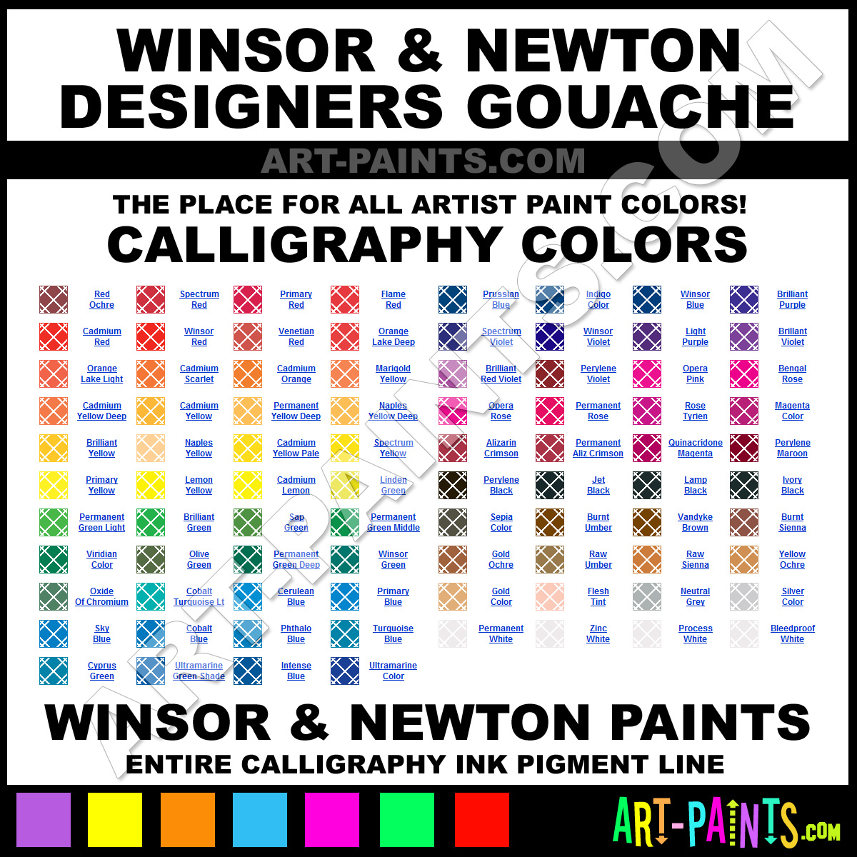 Winsor And Newton Designers Gouache Calligraphy Ink