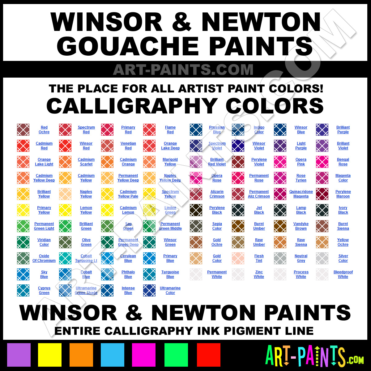 Winsor And Newton Calligraphy Ink Pigments And Paint