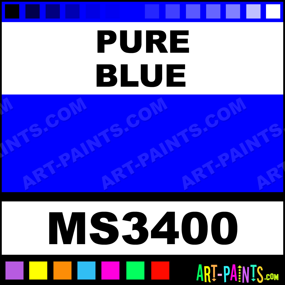 Pure blue color