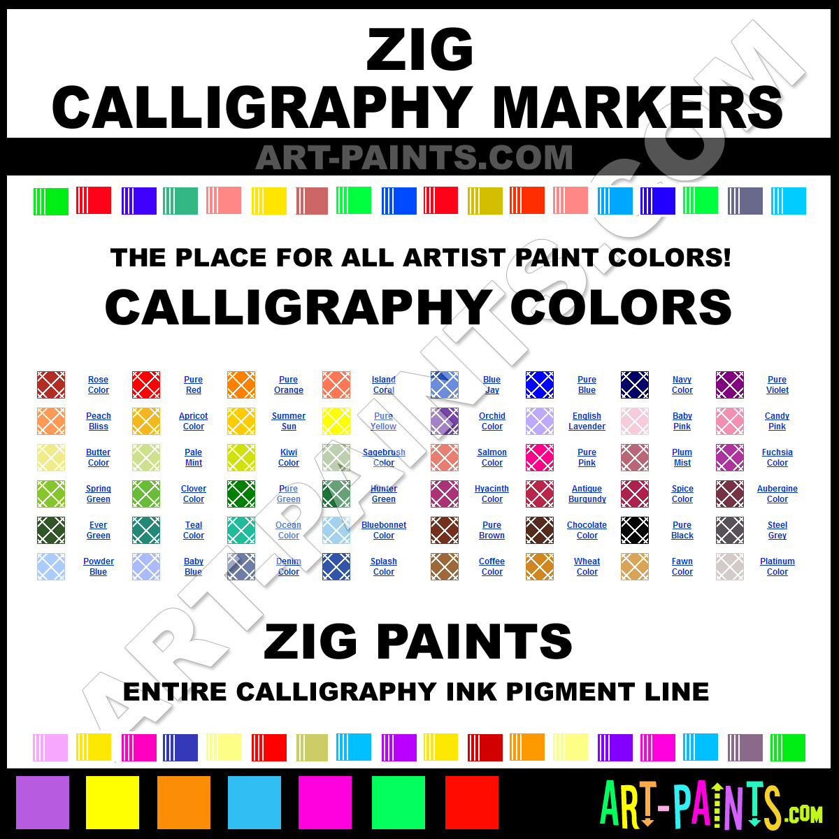 Zig Calligraphy Ink Pigments And Paint Brands Zig Paint