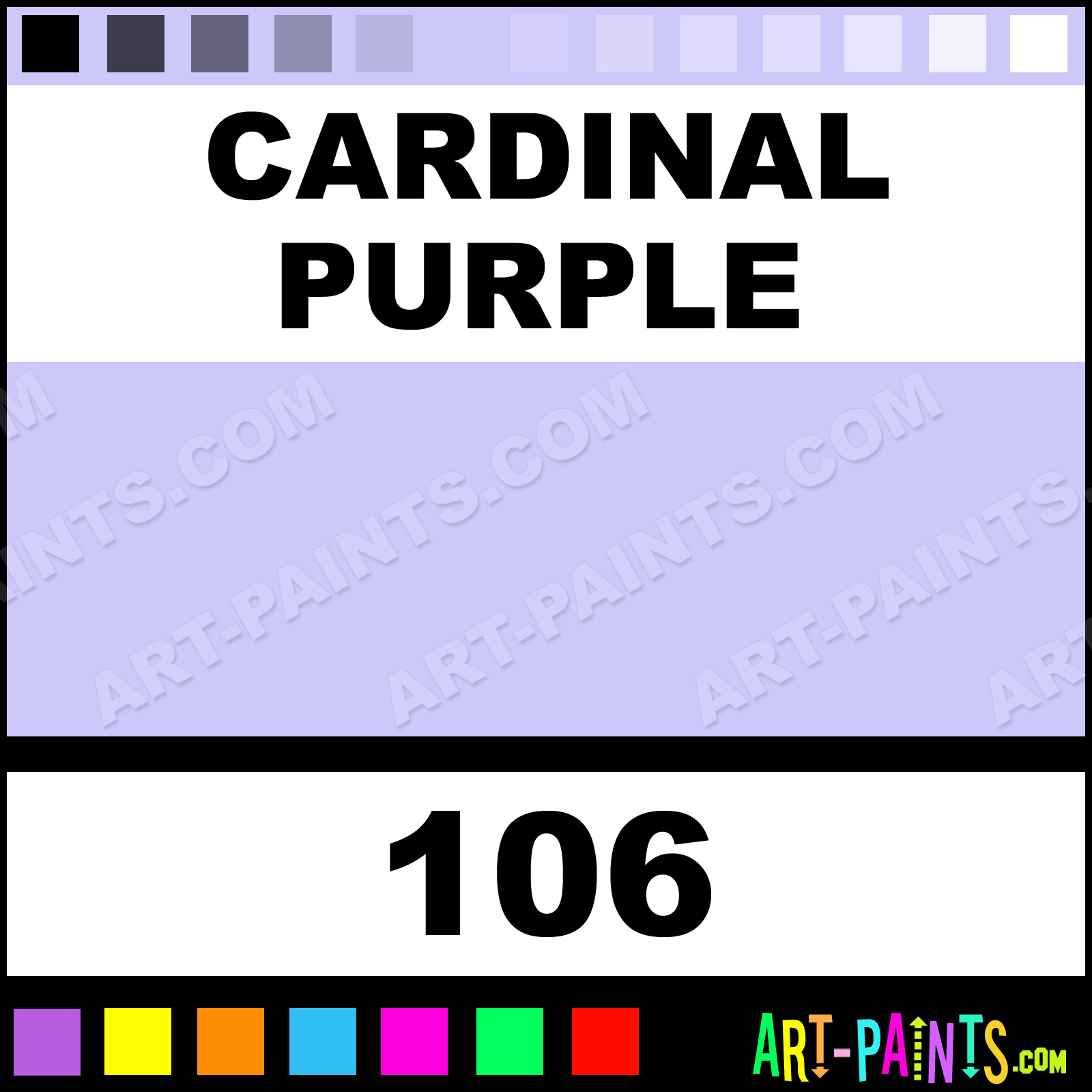 Cardinal Purple Pastel Casein Milk Paints - 106 - Cardinal Purple