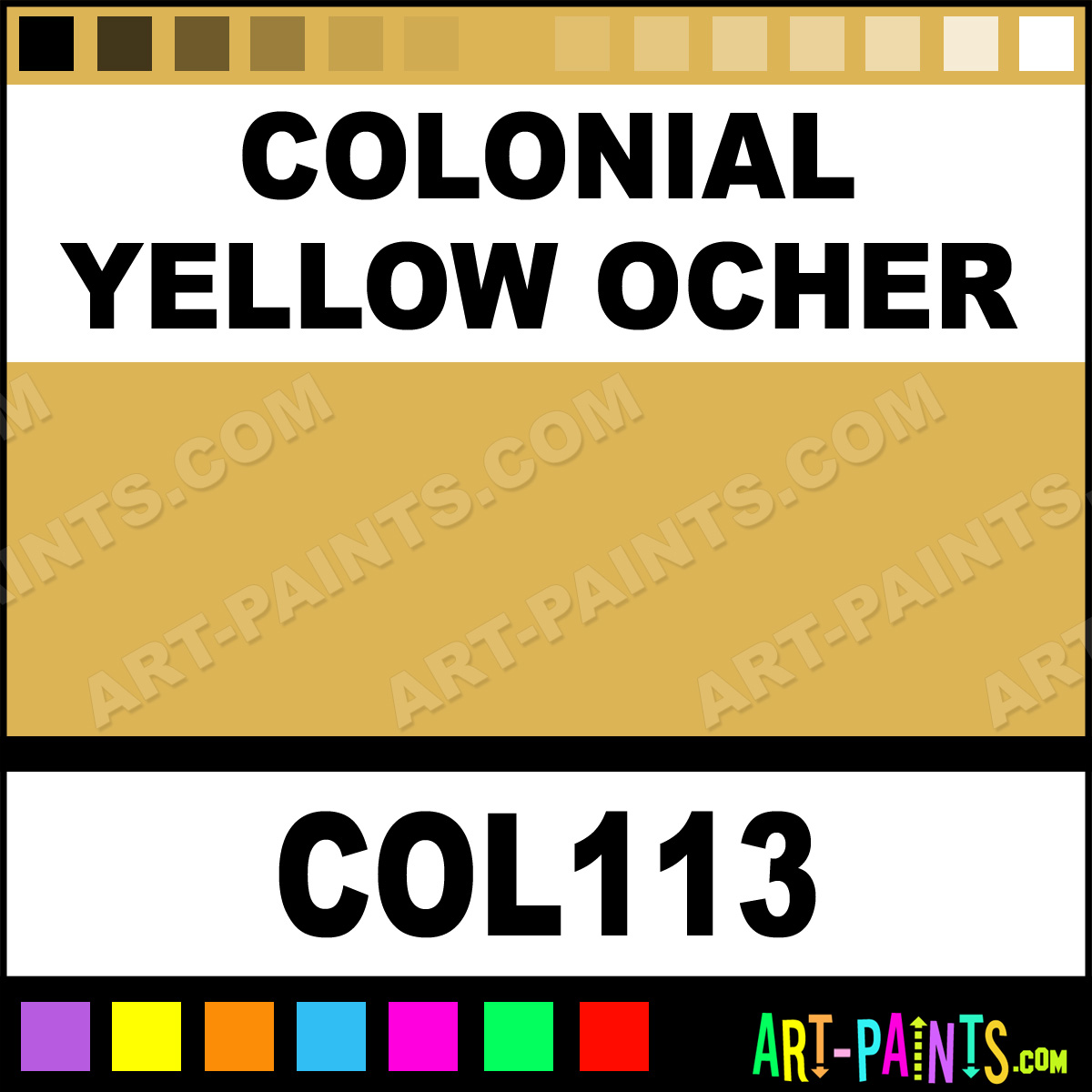 Earthy Ochre Paint Color: Colonial Yellow Ocher Powder Casein Milk Paints