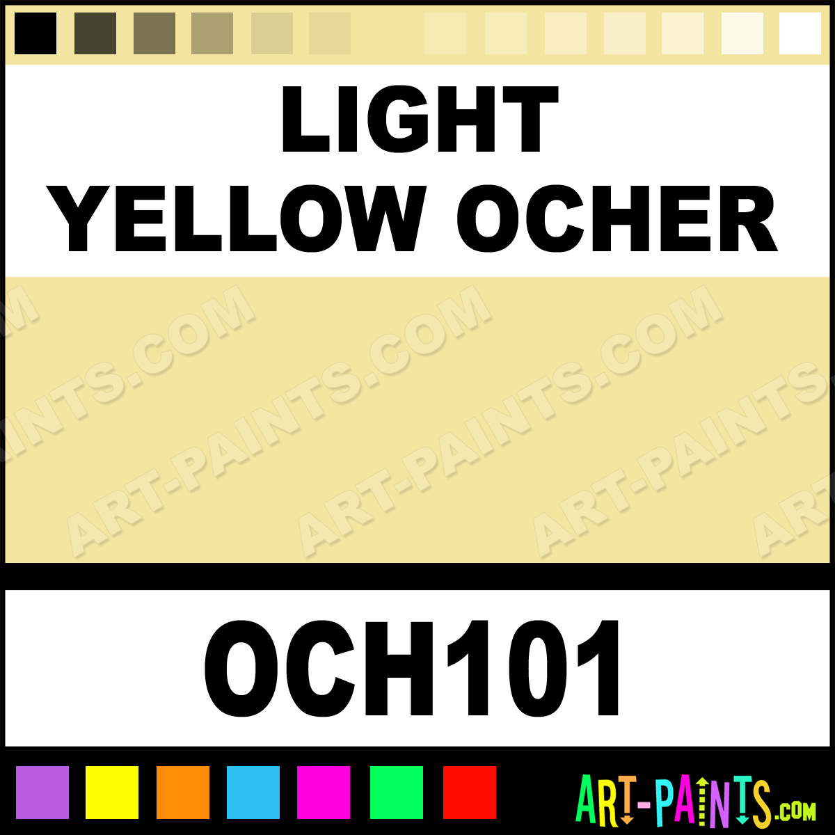 Earthy Ochre Paint Color: Light Yellow Ocher Powder Casein Milk Paints