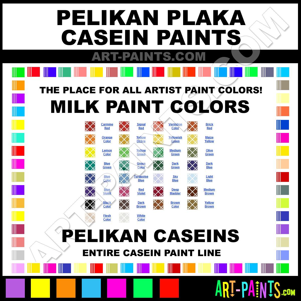 Flesh Color Plaka Casein Milk Paints - 70539 - Flesh Color Paint