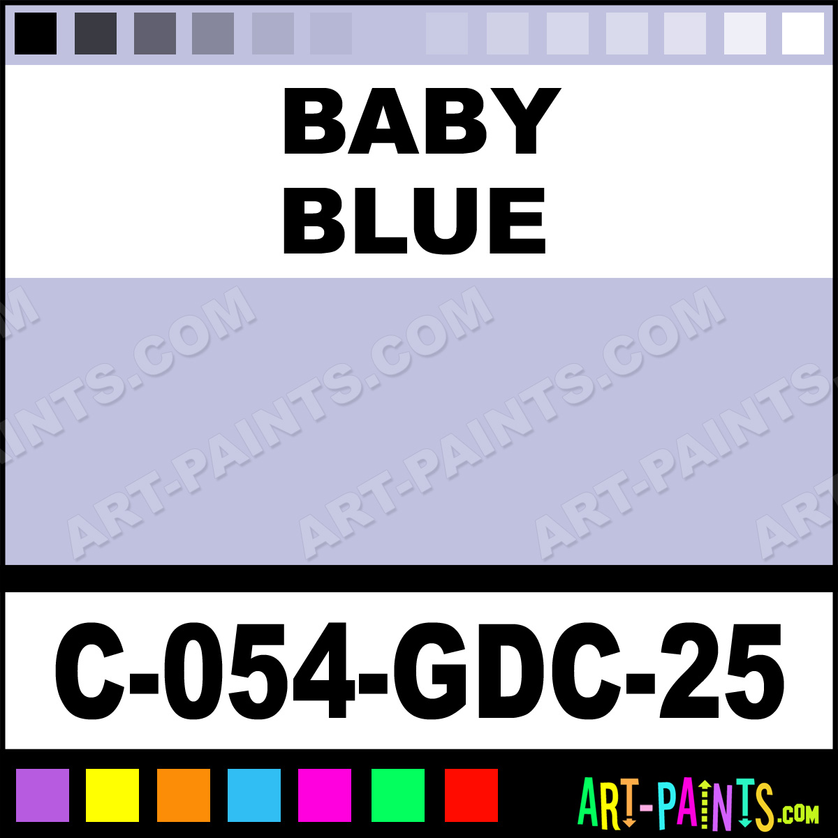 baby blue majolica gloss ceramic paints c 054 gdc 25