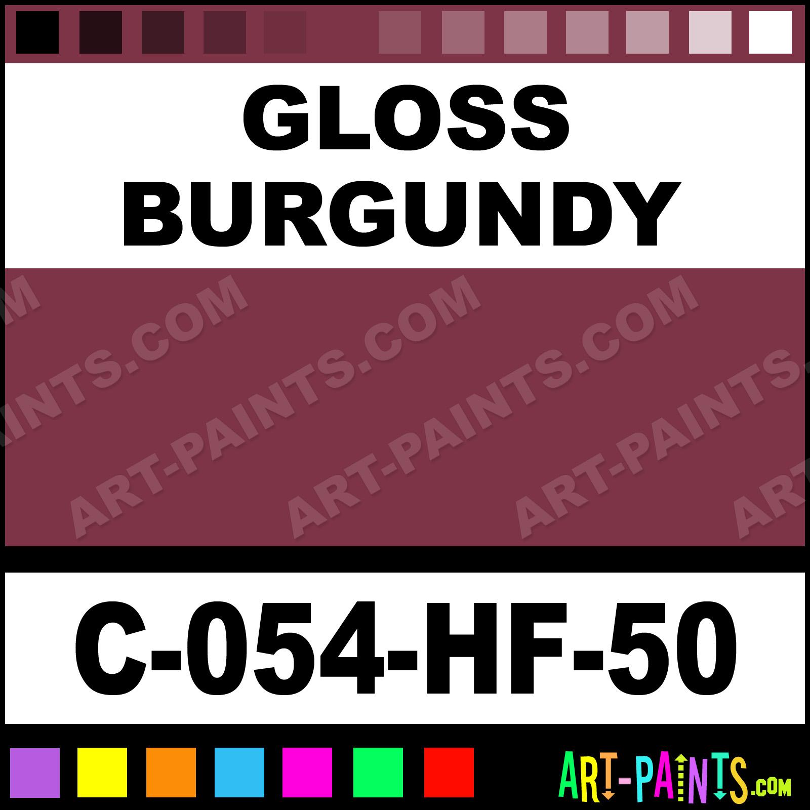 Burgundy Acrylic High Gloss: Gloss Burgundy Sahara High Fire Ceramic Paints