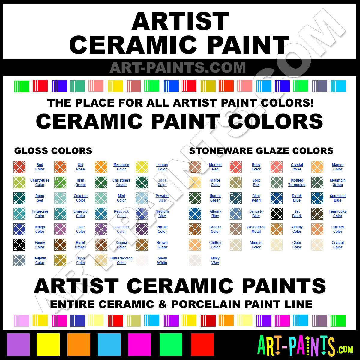 Paint Colors And Brands: Artist Paint Brands, Ceramic