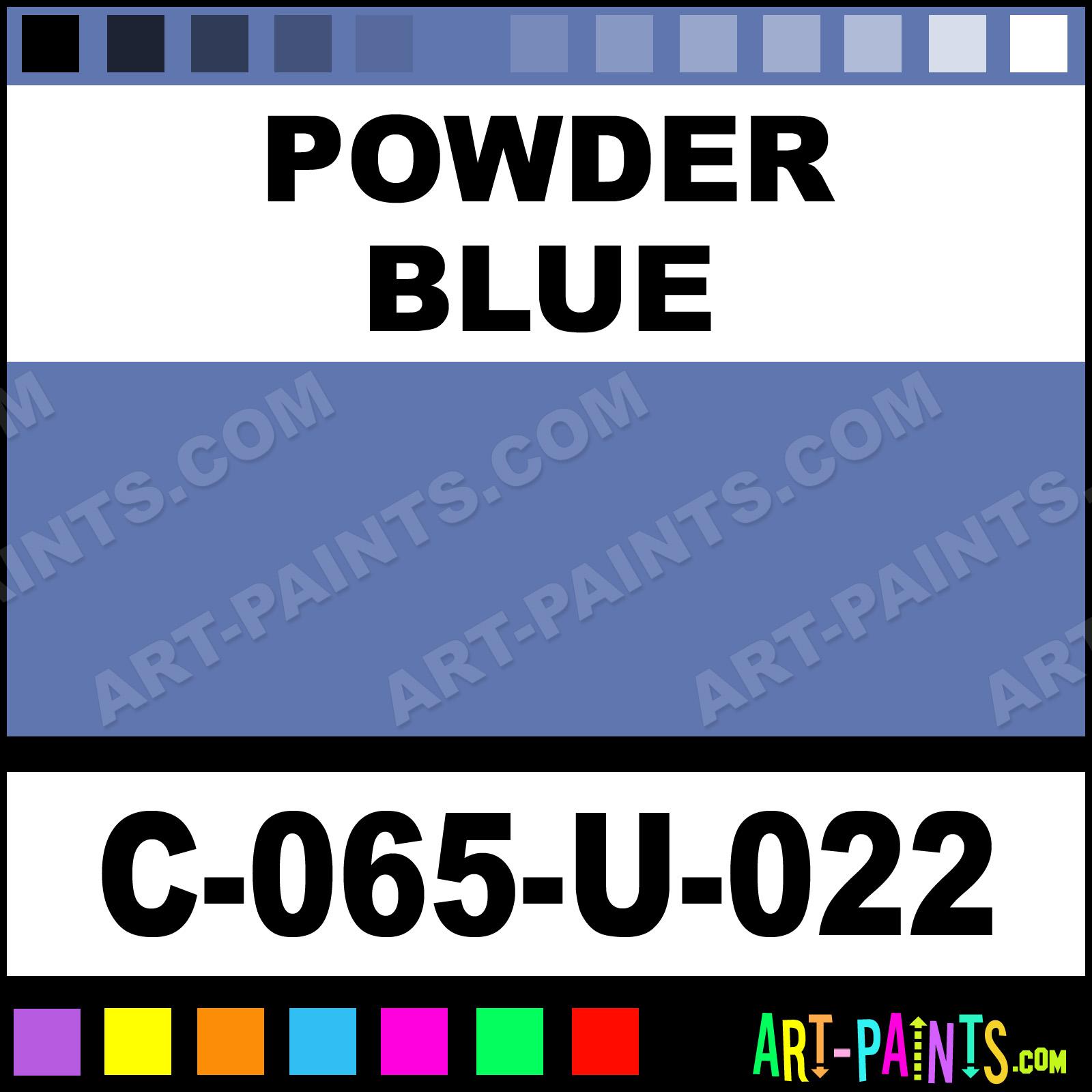 Powder Blue Liquid High Fire Underglaze Ceramic Paints - C-065-U-022