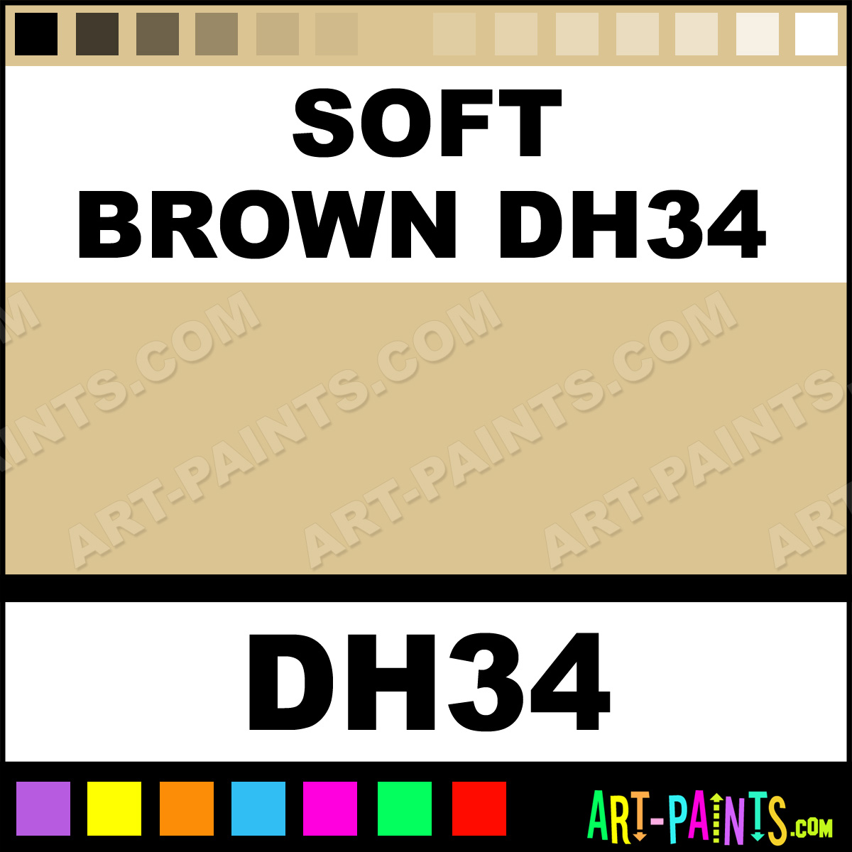 Soft brown dh34 ceramic ceramic paints dh34 soft brown for Soft brown paint colors