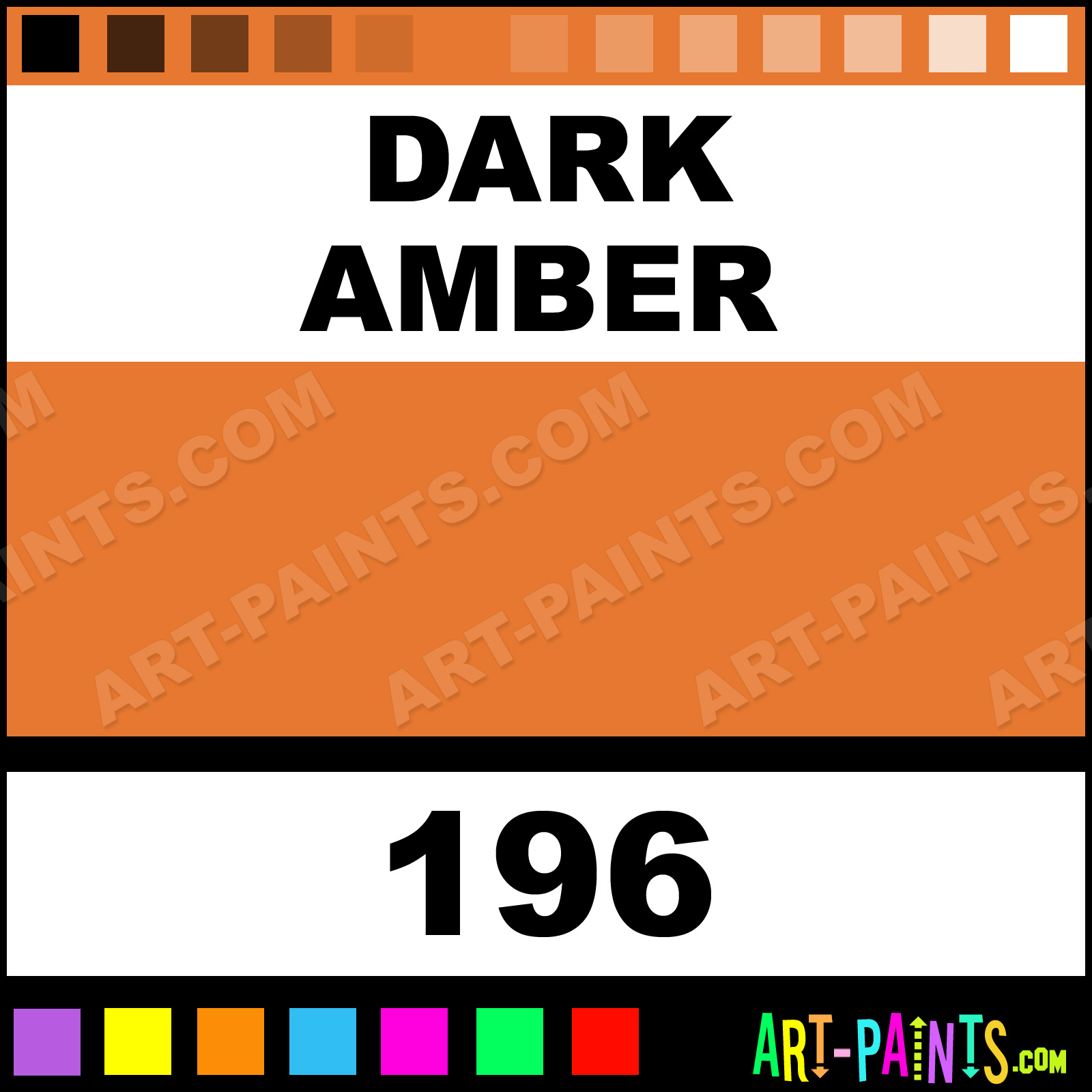 Amber Paint Color