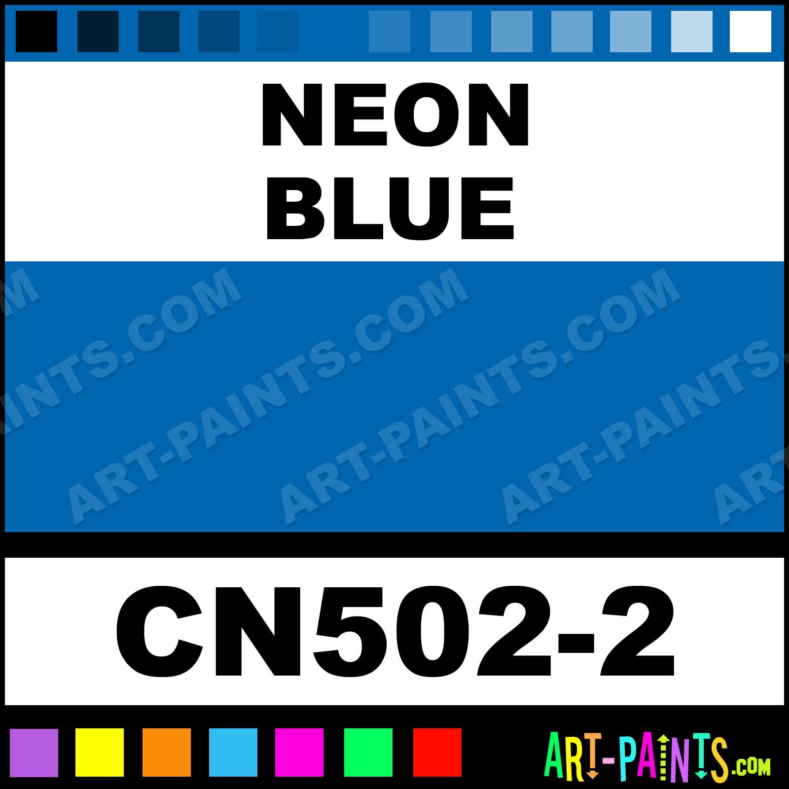 Neon Blue Paint