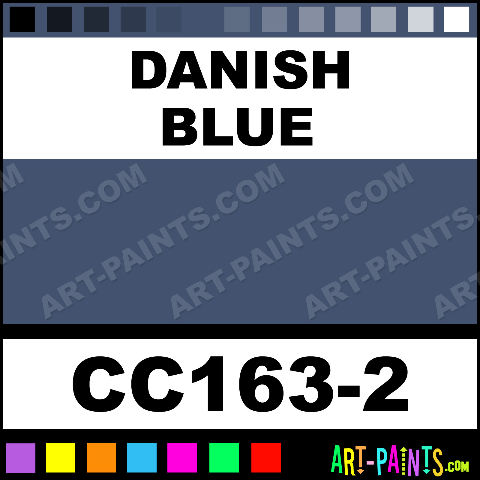 danish blue cover coat underglaze ceramic paints cc163 2