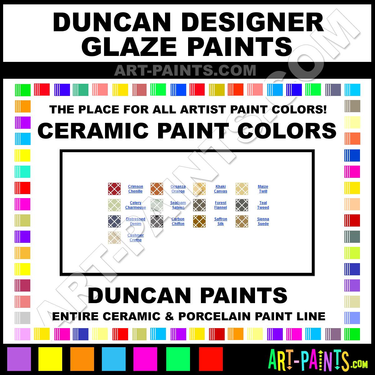Duncan designer glaze ceramic porcelain paint colors duncan duncan designer glaze ceramics geenschuldenfo Choice Image