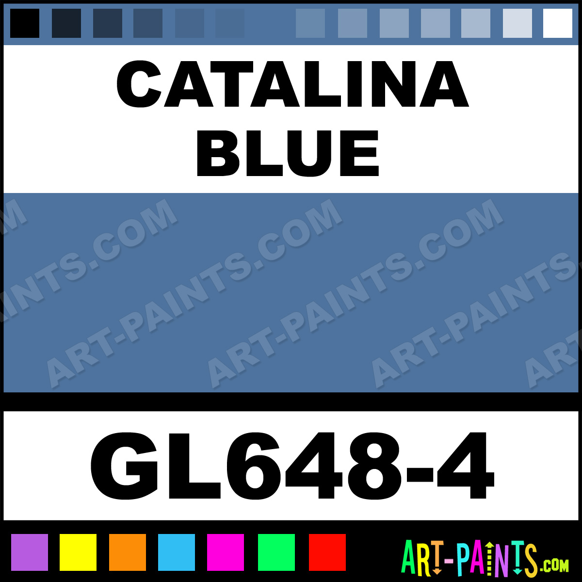 Catalina Blue Gloss Ceramic Paints Gl648 4 Catalina
