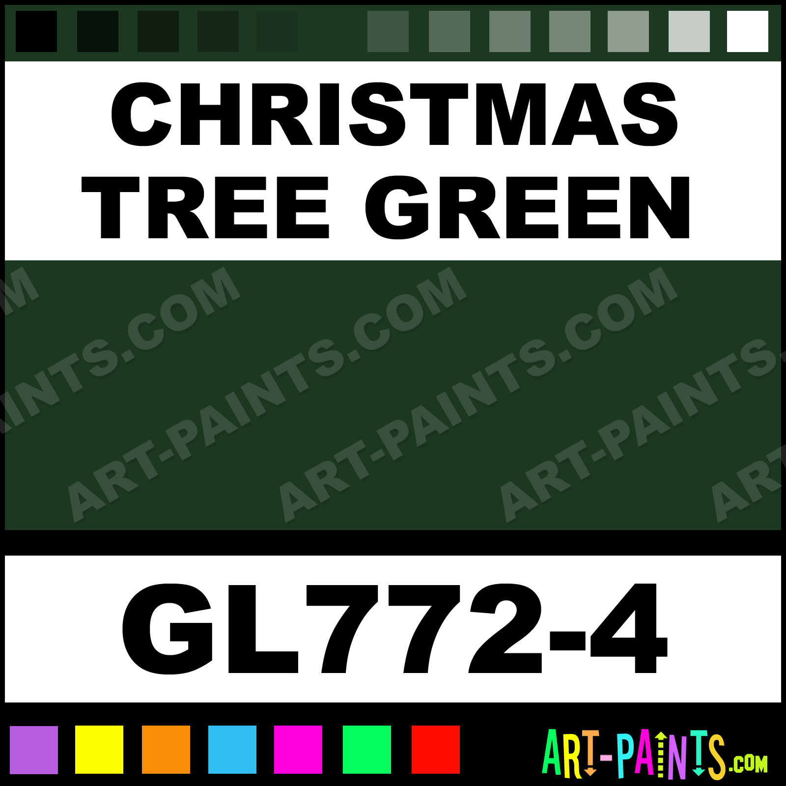 Christmas Tree Green Gloss Ceramic Paints - GL772-4 - Christmas Tree ...