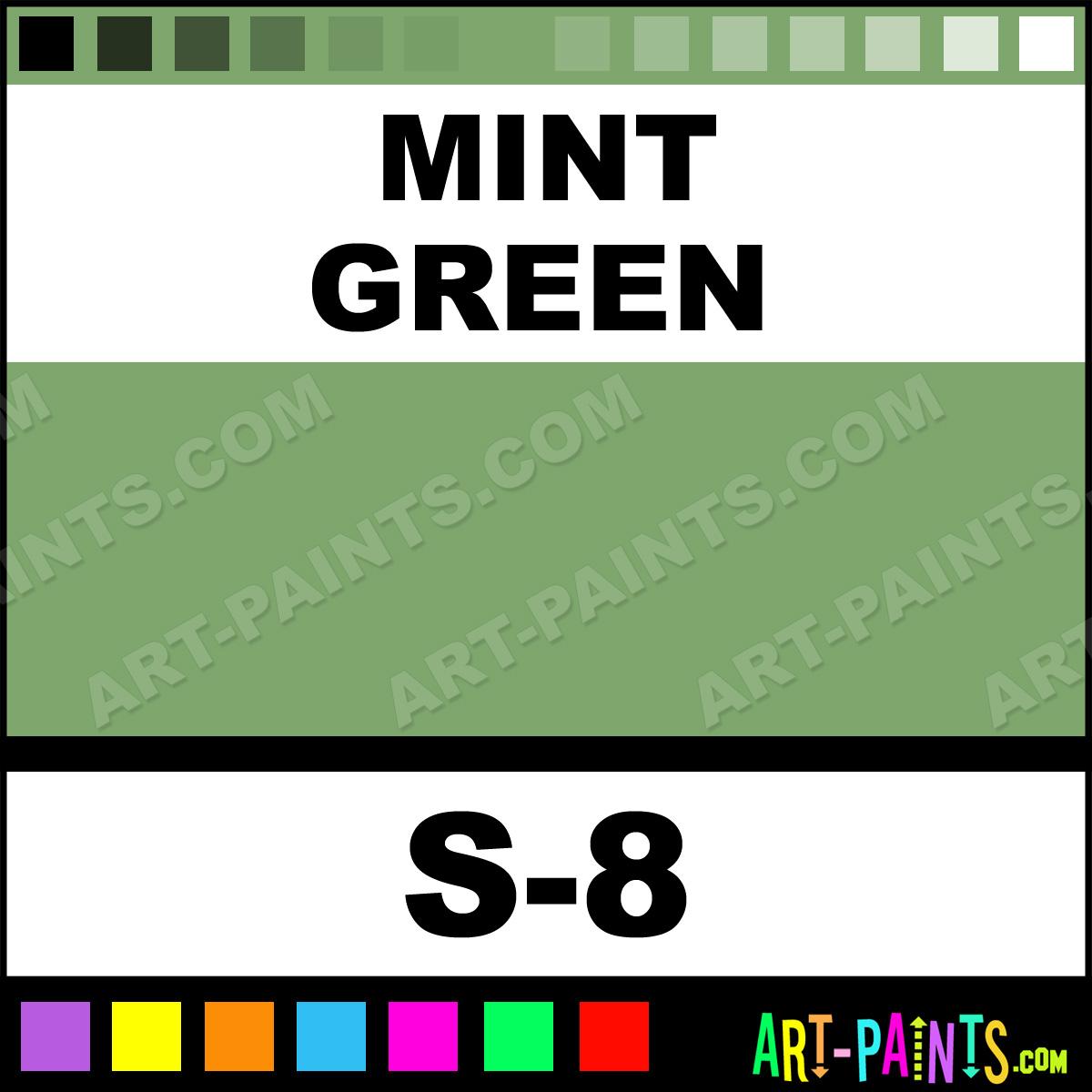 Mint Green Paint mint green translucent ceramic paints - s-8 - mint green paint
