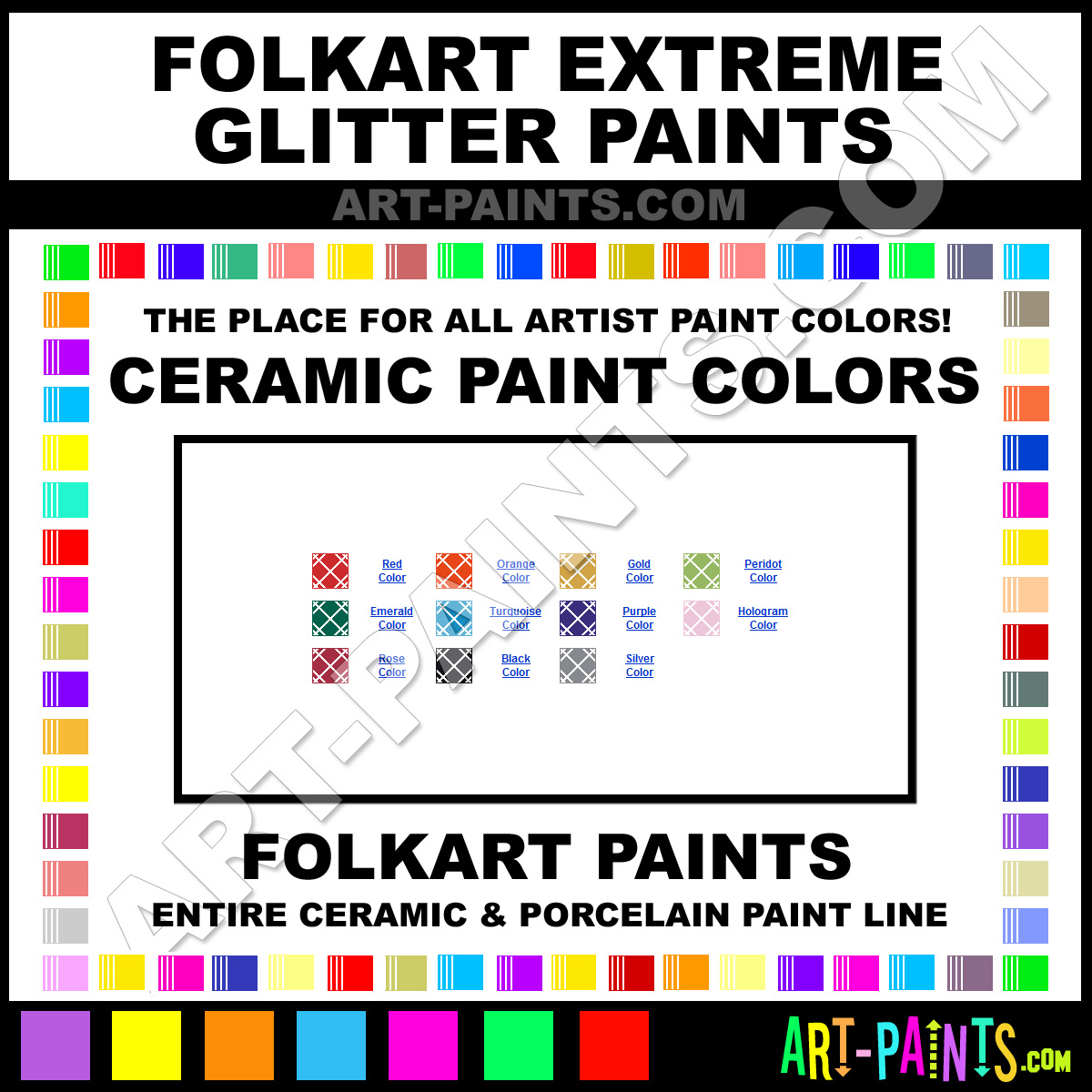 Folk art acrylic paint color chart - Hologram Paint 2782 By Folkart