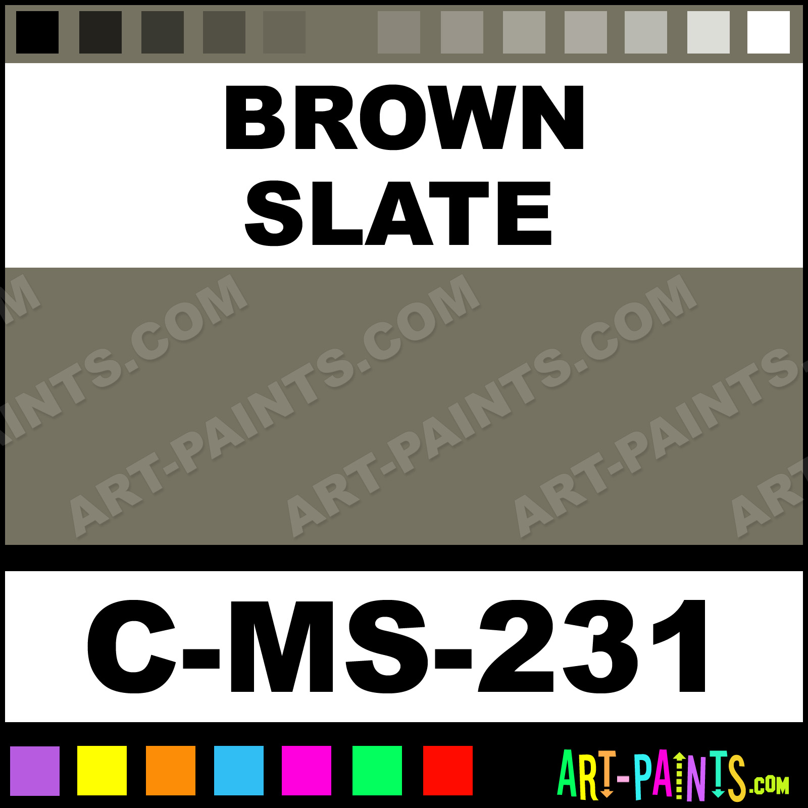 Brown And Slate Blue Living Room: Brown Slate Dynasty Ceramic Paints