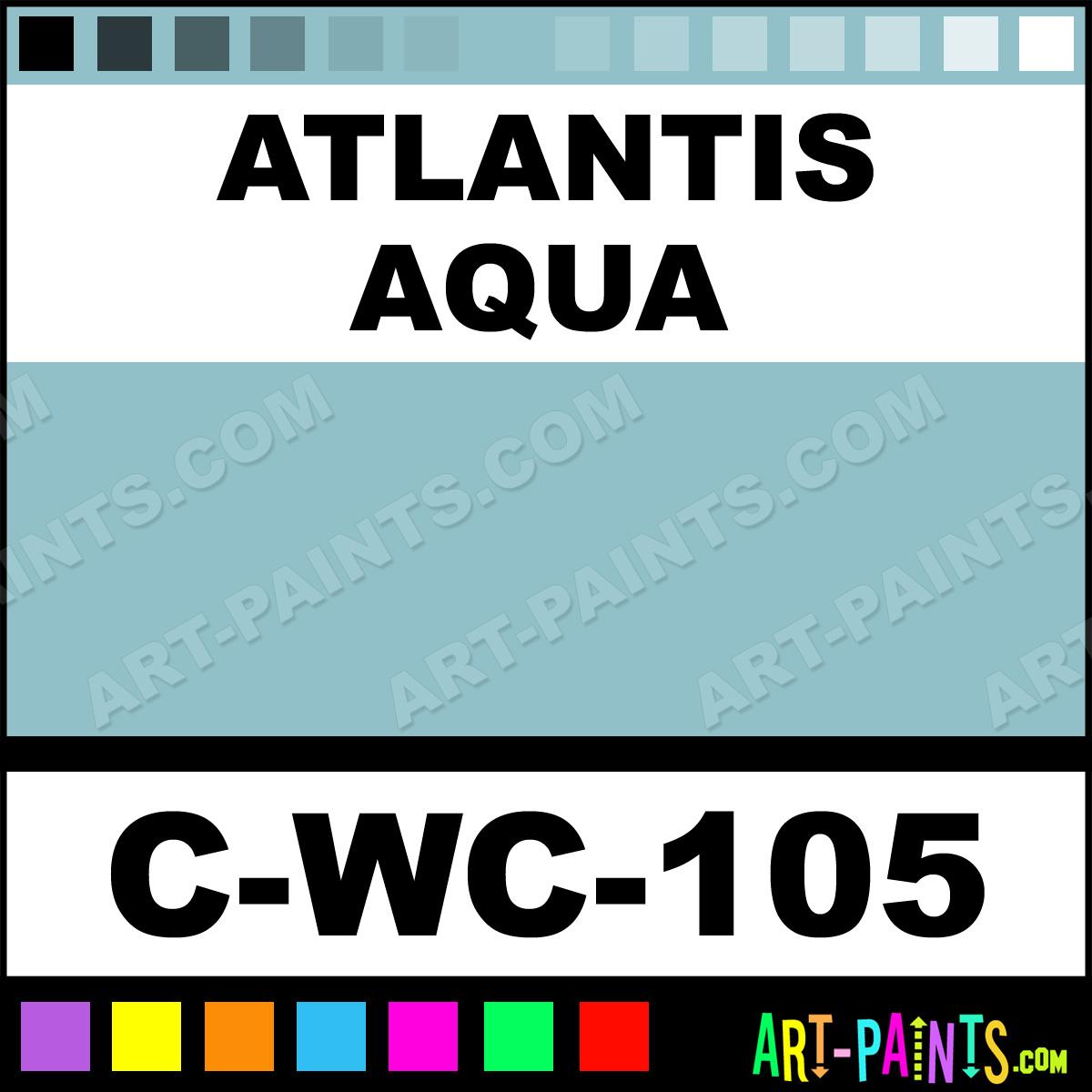 atlantis aqua mystic glaze ceramic paints c wc 105. Black Bedroom Furniture Sets. Home Design Ideas