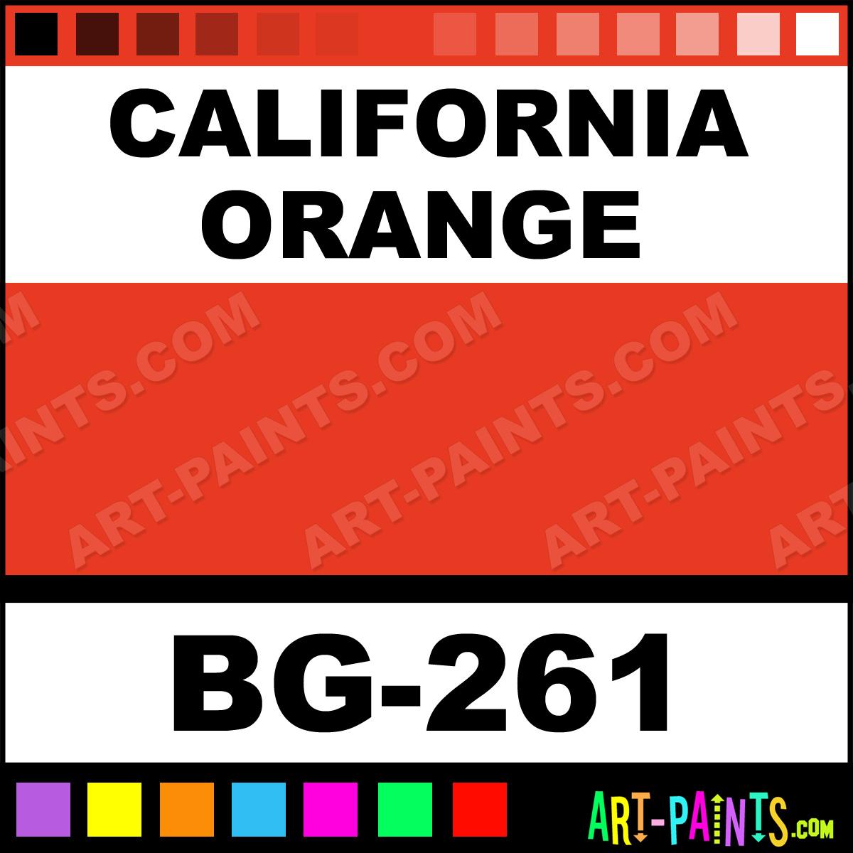 California Orange Paint Bg 261 By Mayco Bisque Glaze Paints