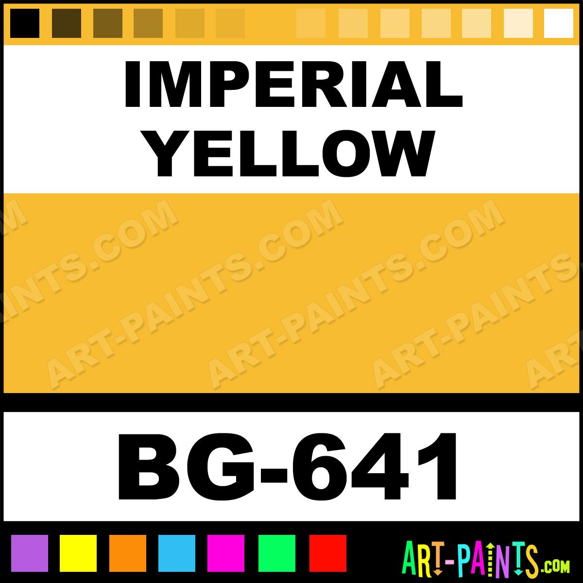 Imperial Yellow Bisque Glaze Ceramic Paints Bg 641