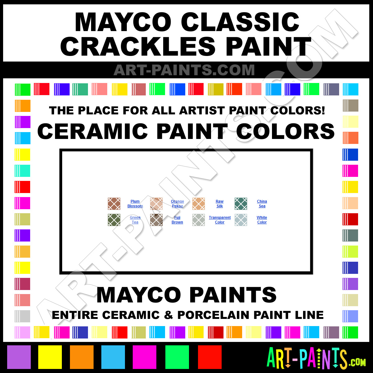 Transparent Classic Crackles Ceramic Paints - CC-101