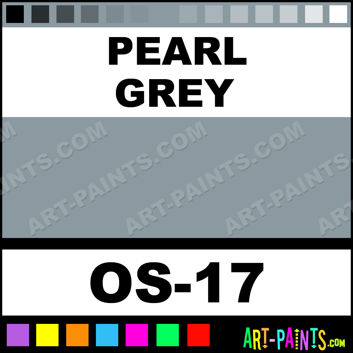 pearl grey one stroke translucent ceramic paints - os-17 - pearl