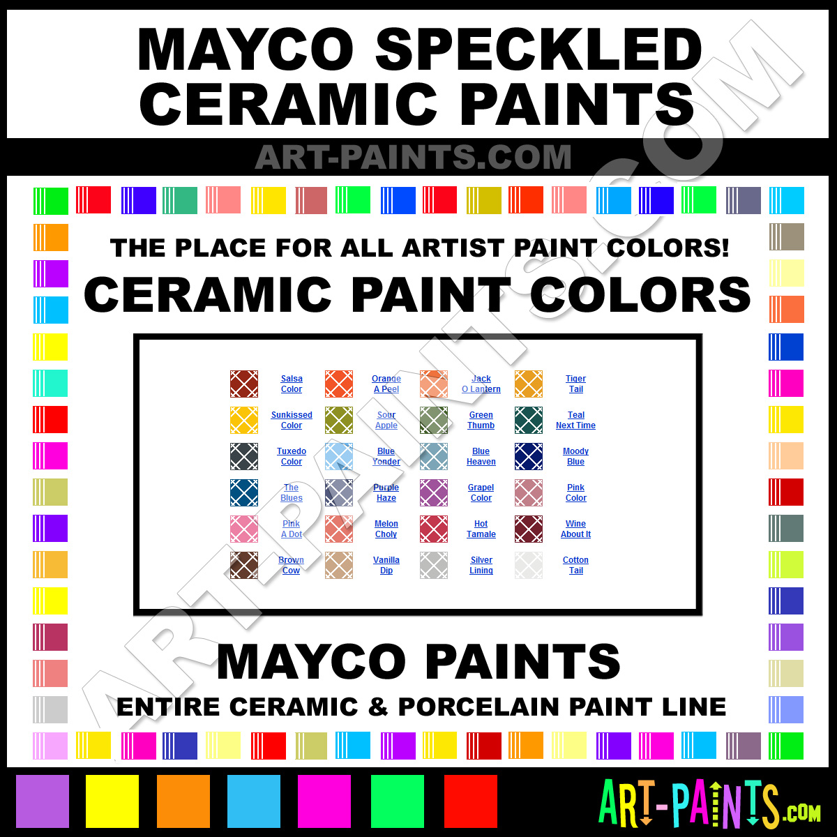 Mayco Speckled Ceramic Porcelain Paint Colors Mayco Speckled Paint Colors Speckled Color