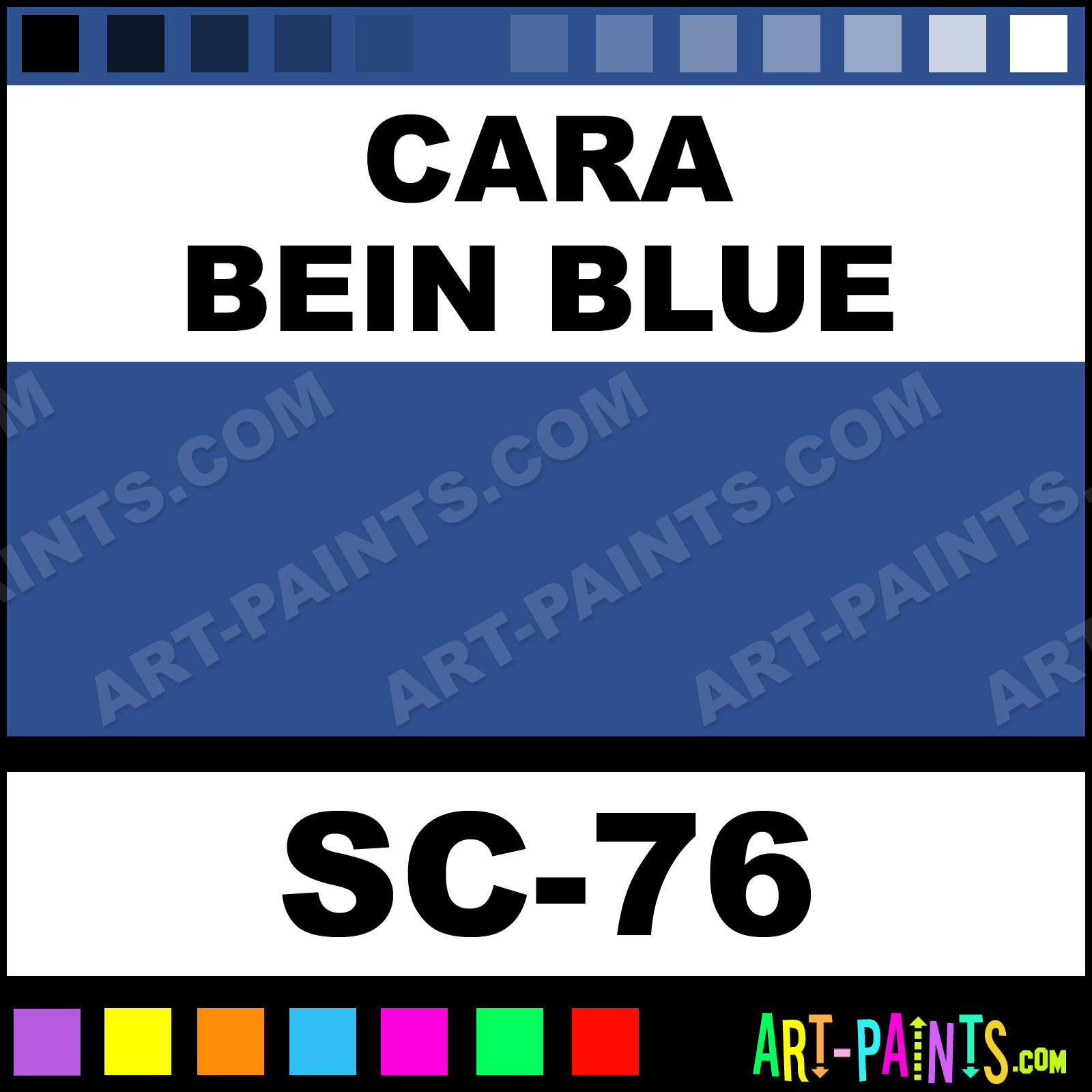 Cara Bein Blue Stroke And Coat Ceramic Paints Sc 76
