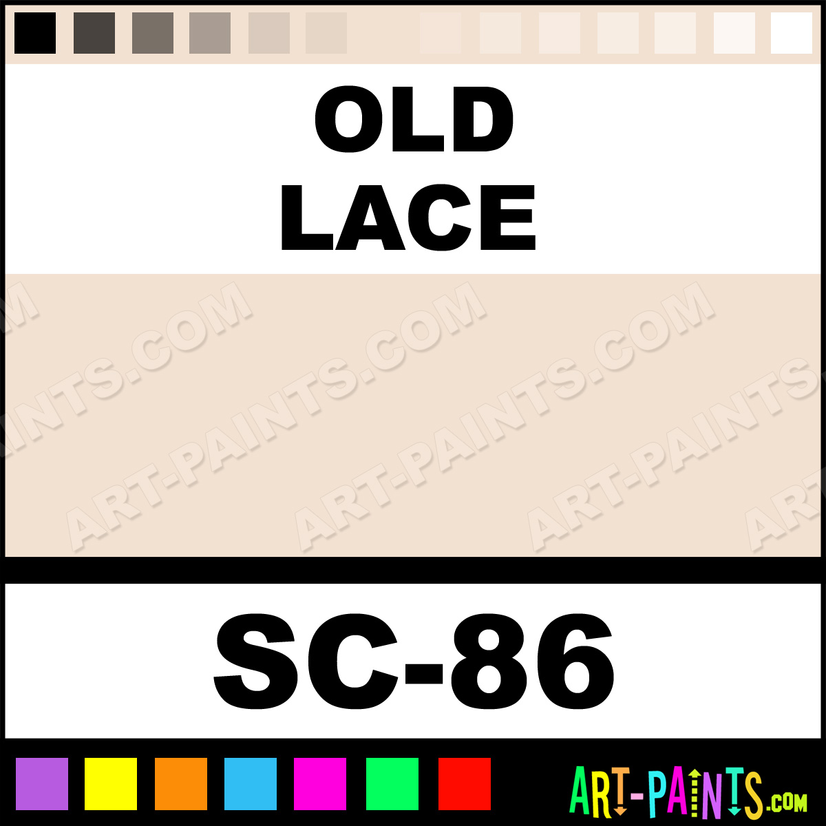Old Lace Stroke And Coat Ceramic Paints Sc 86 Old Lace