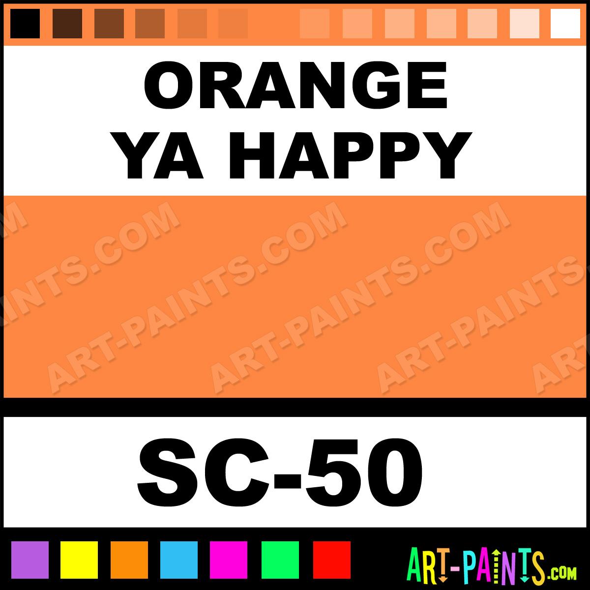 Orange Ya Happy Stroke And Coat Ceramic Paints Sc 50