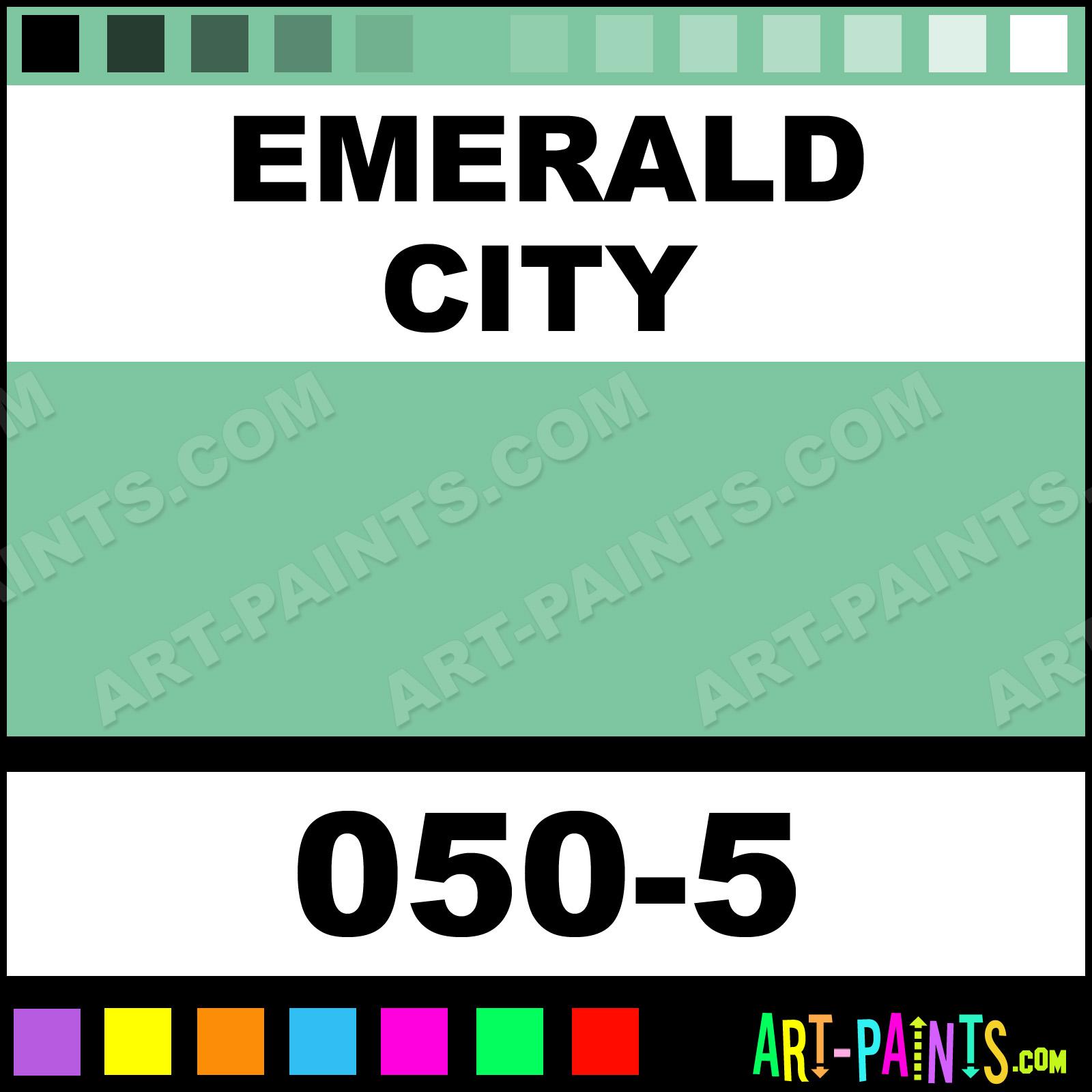Emerald city ultra ceramic ceramic porcelain paints 050 for Emerald city nickname