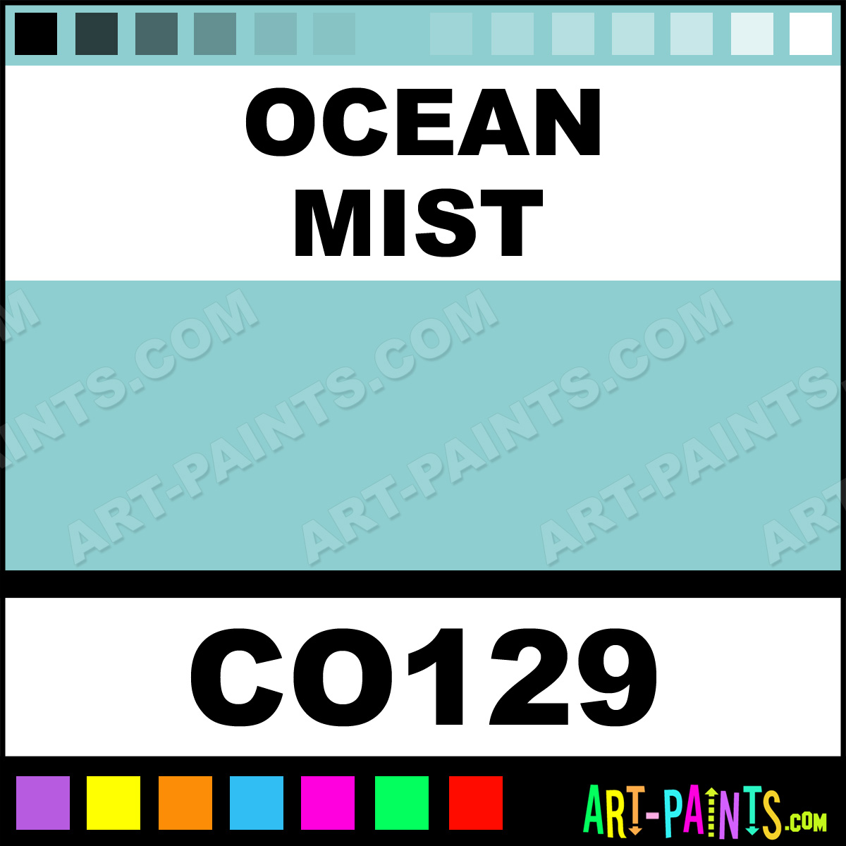 Ocean Mist Opaque Stain Ceramic Paints Co129 Ocean