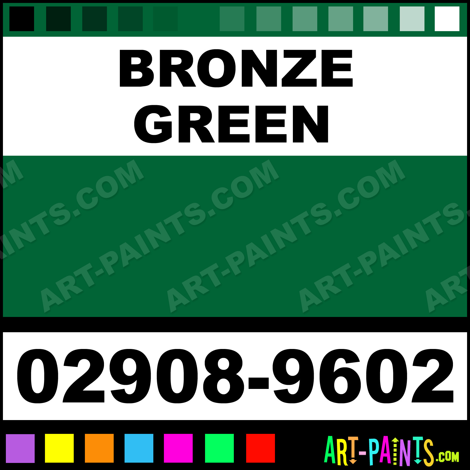 Bronze Green Paint