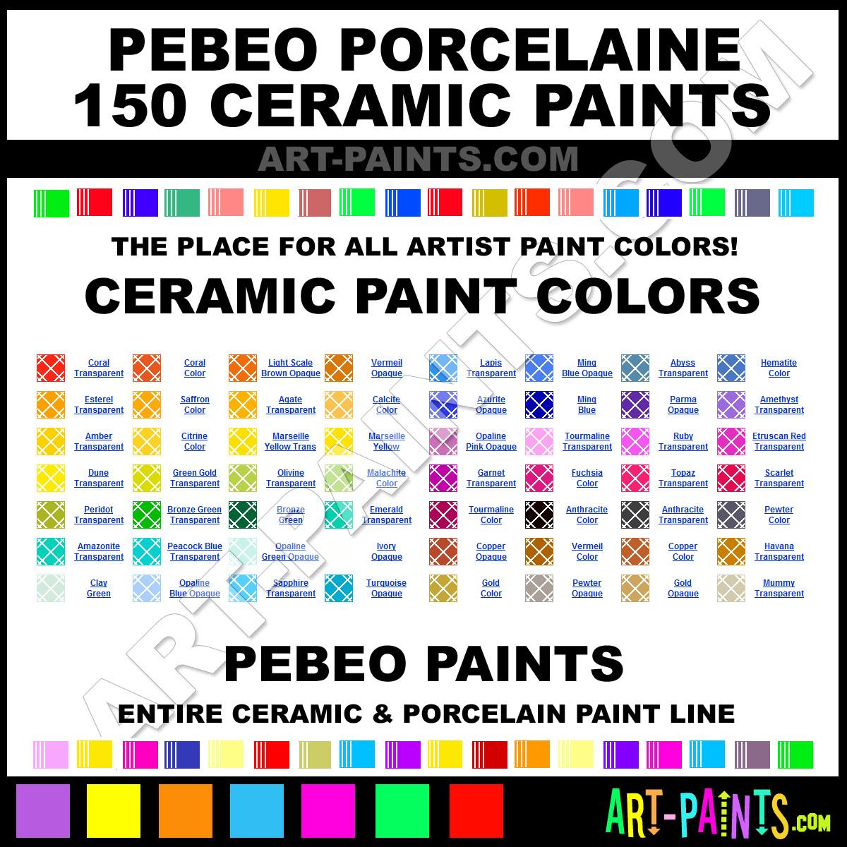 Amazonite Transparent Porcelaine 150 Ceramic Paints - 02908