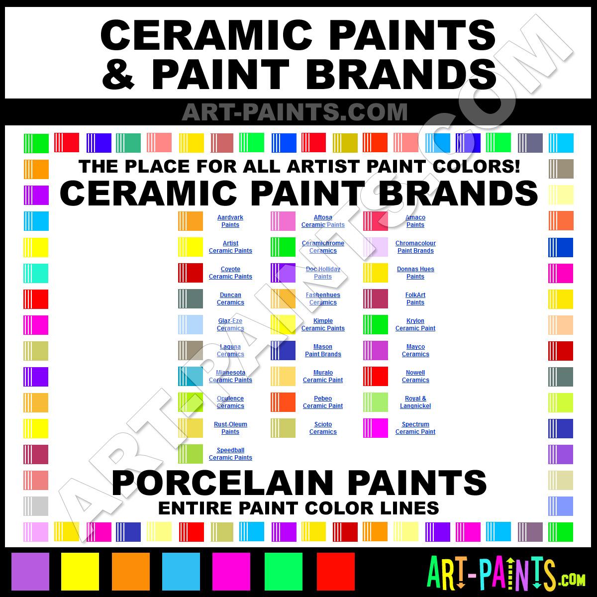 Ceramic Art Paints - Ceramics, Porcelain, Glazes, Stains, Bisque