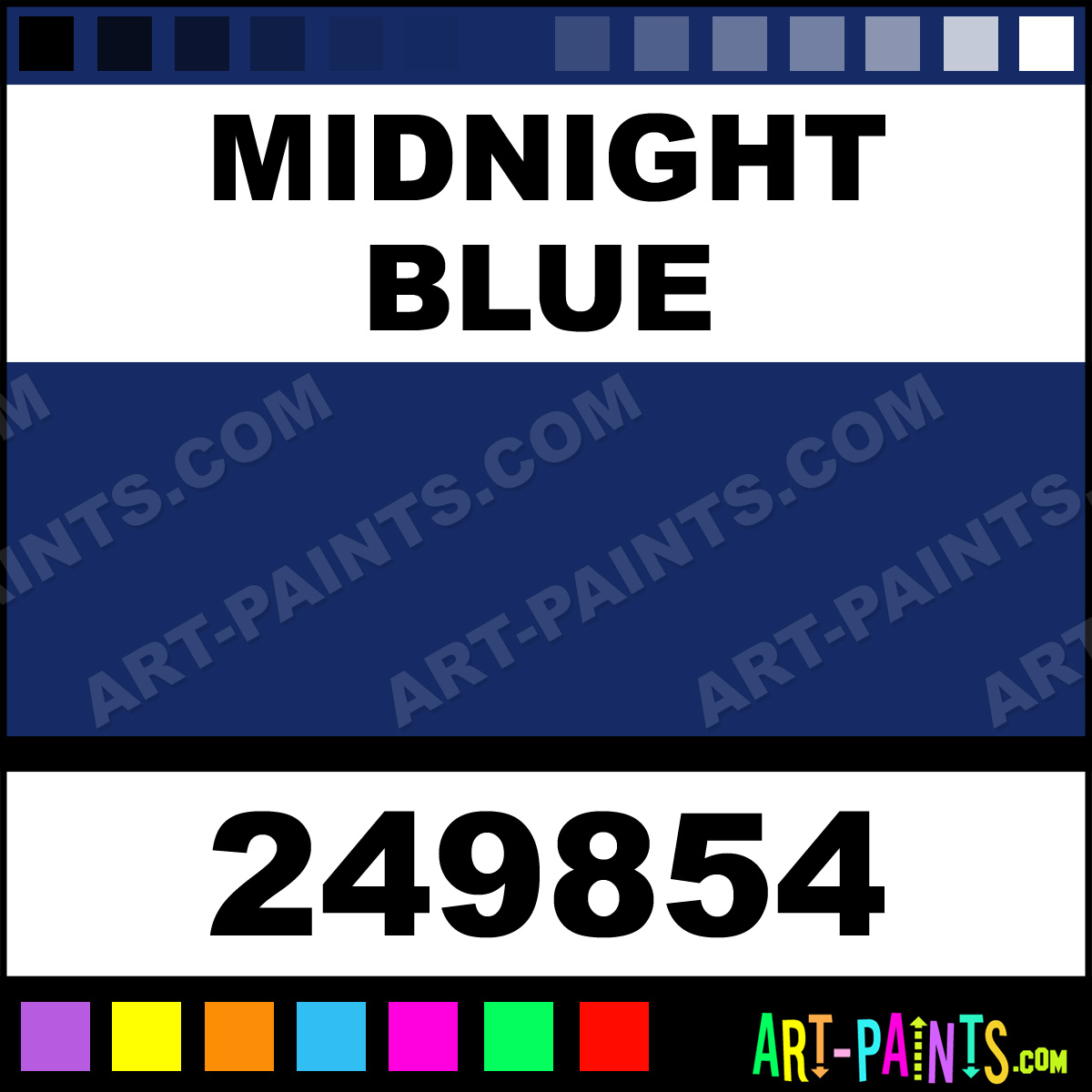 Midnight Blue Satin Ceramic Paints 249854 Midnight