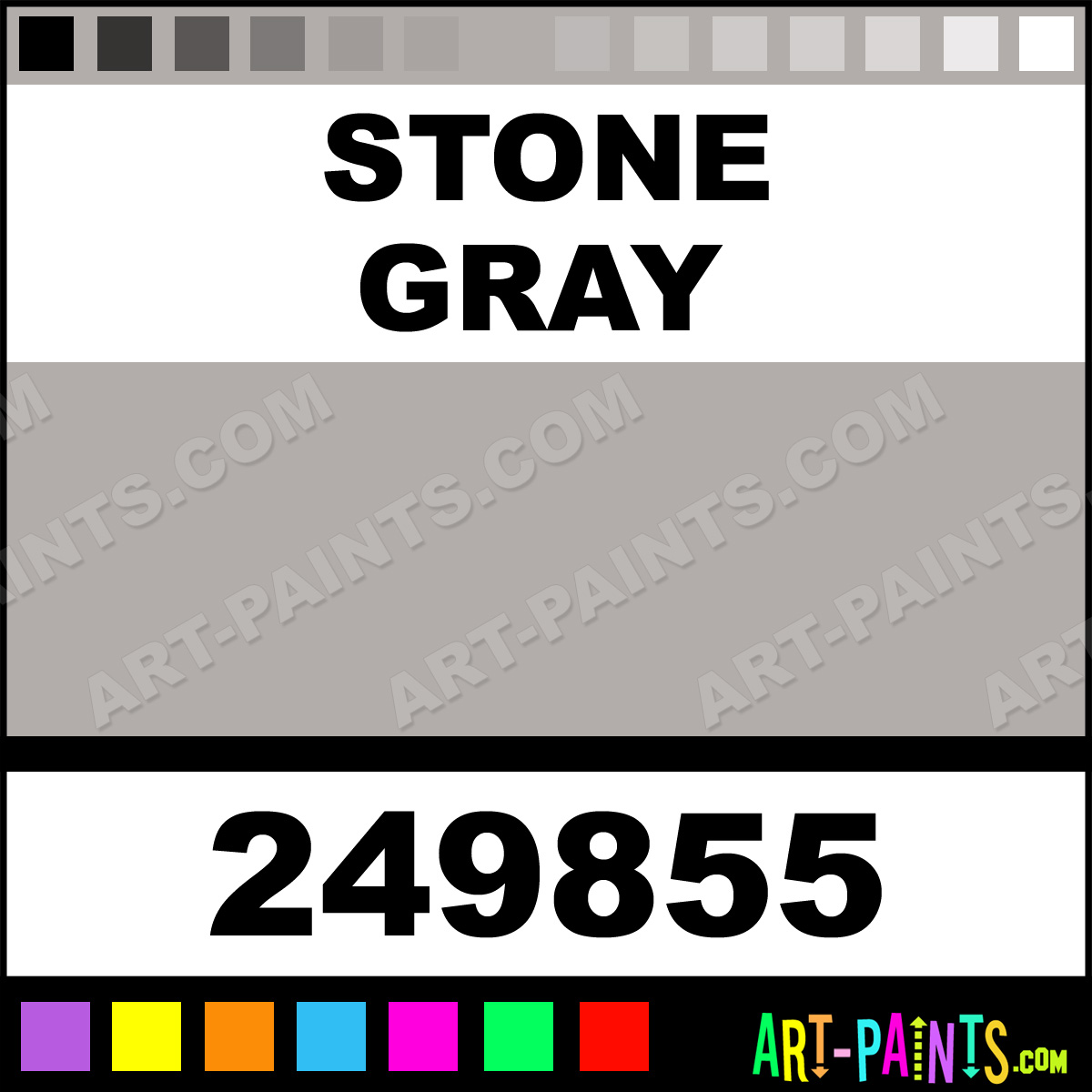 Stone gray satin ceramic paints 249855 stone gray for Gray stone paint color