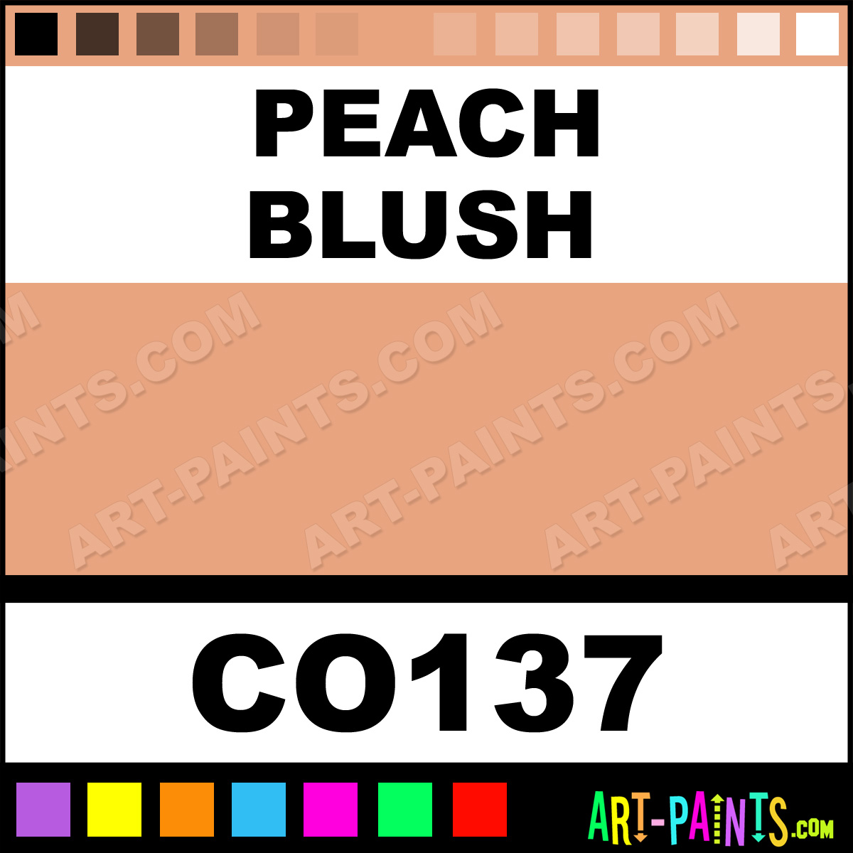 Peach Blush Bisque Ceramic Porcelain Paints - CO137 - Peach