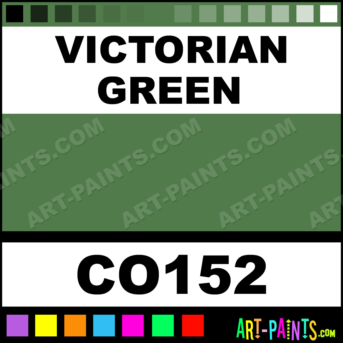Victorian Green Bisque Ceramic Porcelain Paints Co152