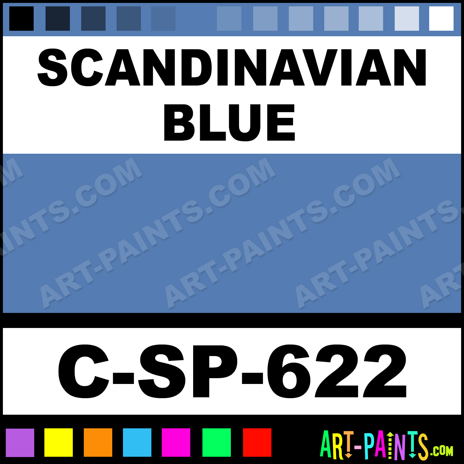 Scandinavian Blue 600 Series Underglaze Ceramic Paints C