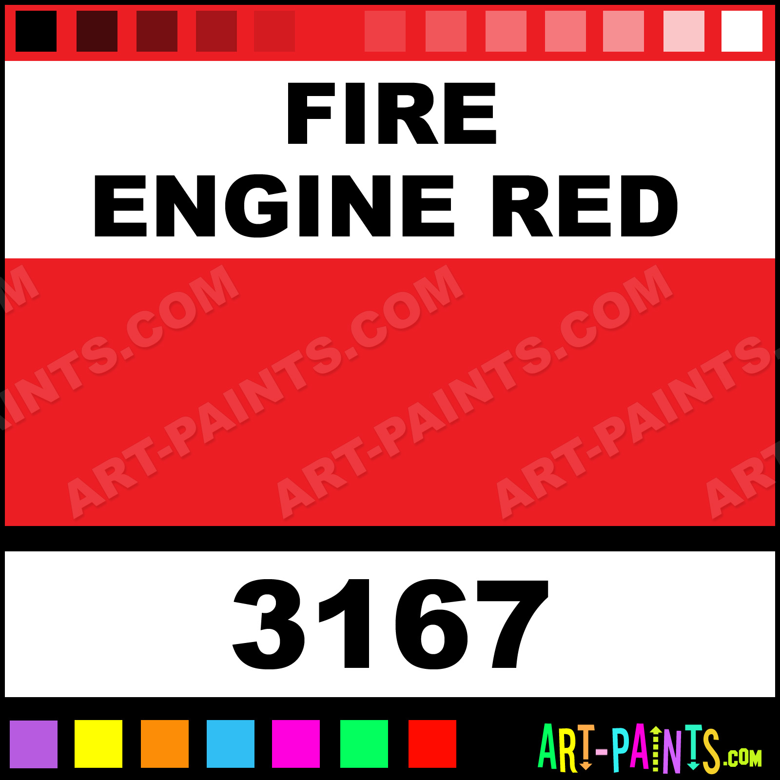 Fire Engine Red Paint