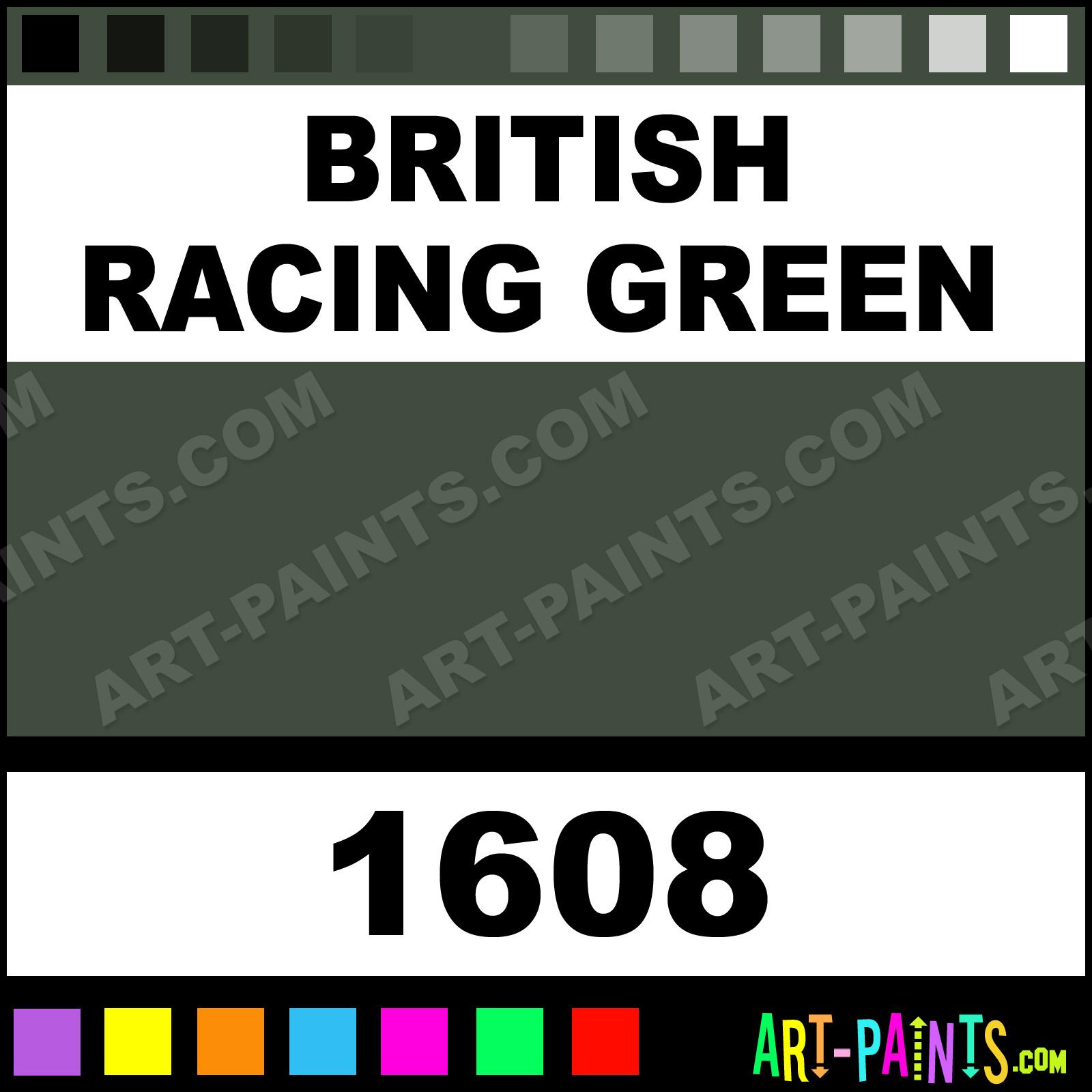 British Racing Green Acrylic Enamel Paints 1608