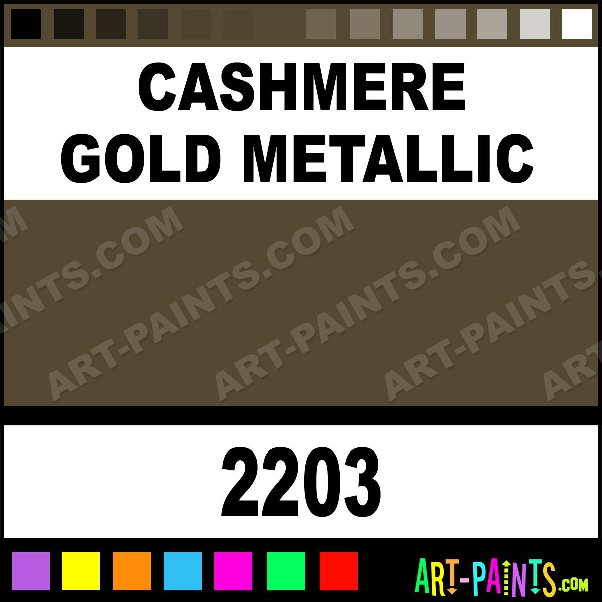 Cashmere Gold Metallic Acrylic Enamel Paints 2203