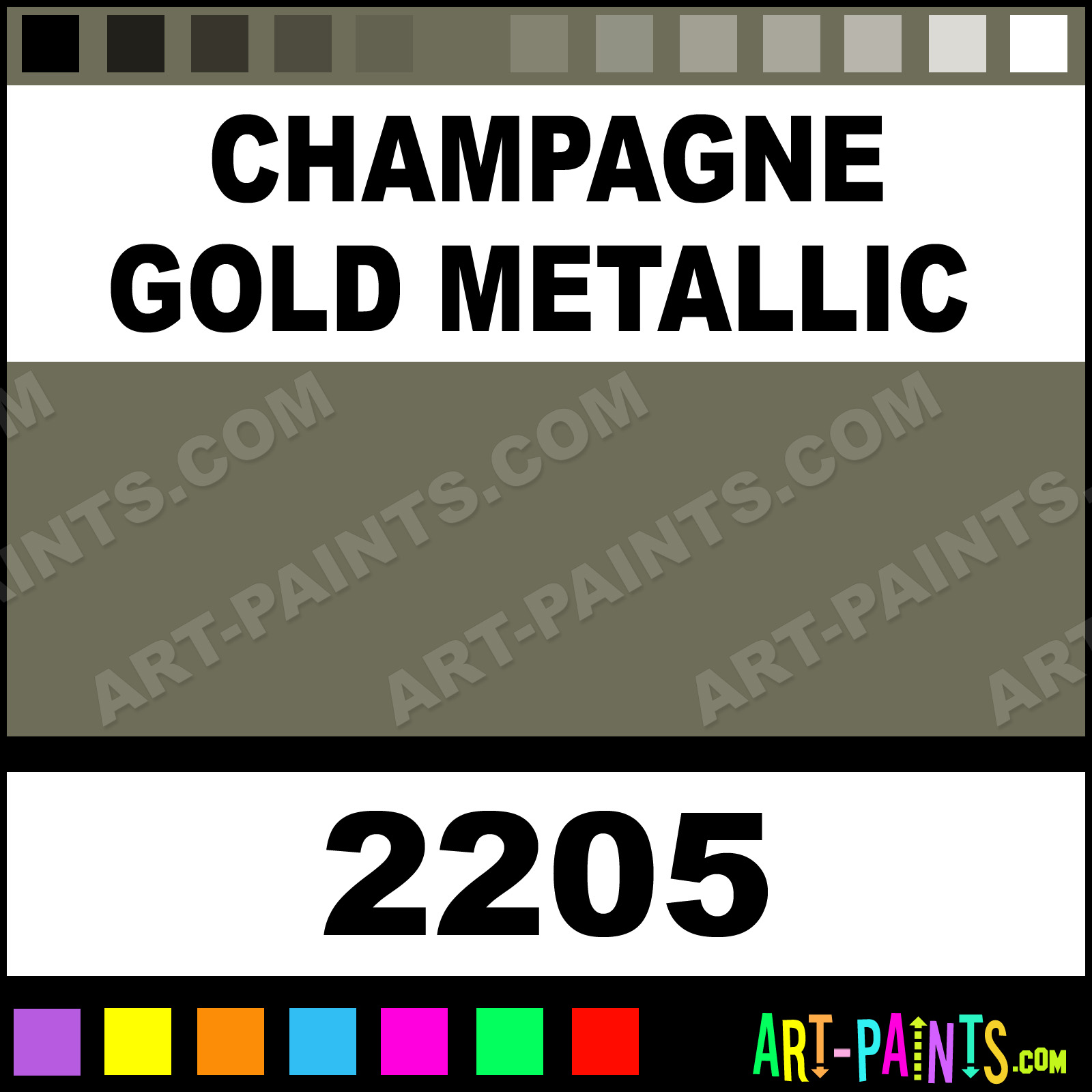 Ford Champagne Gold Metalic Double Acrylic Paint Car Care